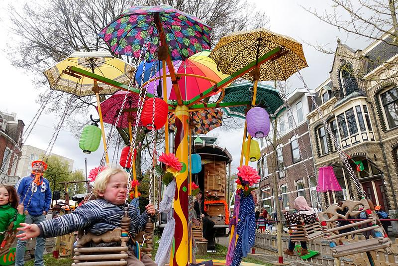 Amsterdam Oost, koningsdag, 27 april 2016, foto: Katrien Mulder