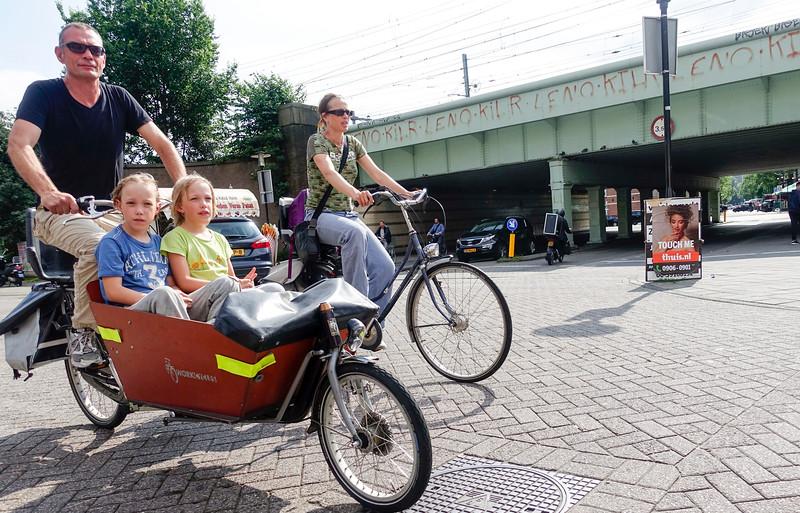 The Netherlands; Amsterdam, 22 juni 2016, kinderbakfiet; foto: Katrien Mulder