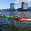 Nederland, Amsterdam, 13 juli 2016, kano varen op het IJ,  foto: Katrien Mulder