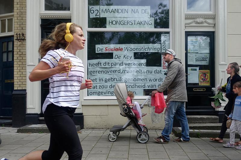 Nederland, Amsterdam, 14 juni 2016, Mauritskade, een slepend conflict, foto: Katrien Mulder