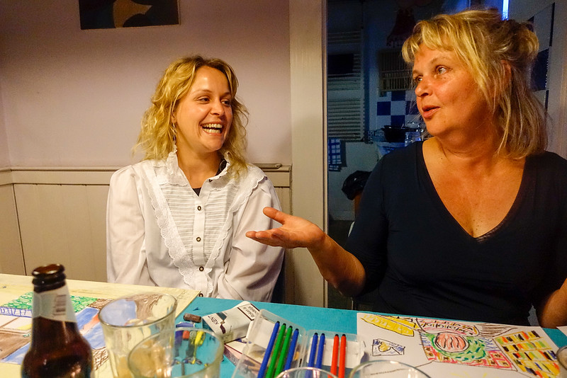 Nederland, Haarlem, 7 augustus 2016, Sophie en Judith, foto: Katrien Mulder