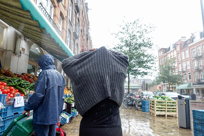 Nederland, Amsterdam, Javastraat,  Amsterdam oost, 11 augustus 2016, heel slecht weer, very bad weather, foto: Katrien Mulder