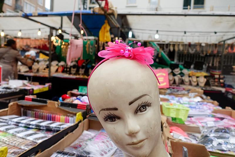 Nederland, Amsterdam, fashion doll with hair decoration;12 augustus 2016, foto: Katrien Mulder