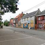 Belgie, Doel, Oost Vlaanderen, is een dorp dat bijna geheel ontvolkt is om uitbreiding van de haven van Antwerpen mogelijk te maken.  De oorspronkelijke plannen zijn gewijzigd, en het is nie ...