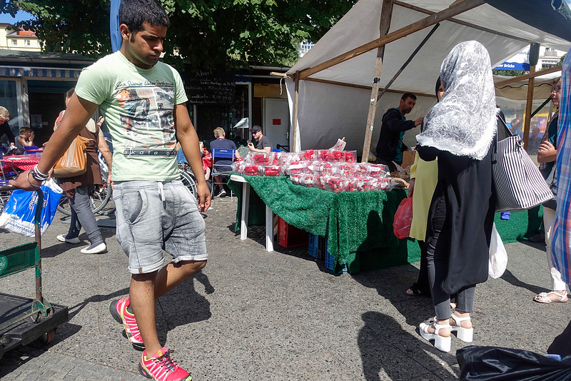 Germany, Berlin, Maybachufer, Kreuzberg, Turkse Markt, Turkish market, 30 augustus 2016, foto: Katrien Mulder