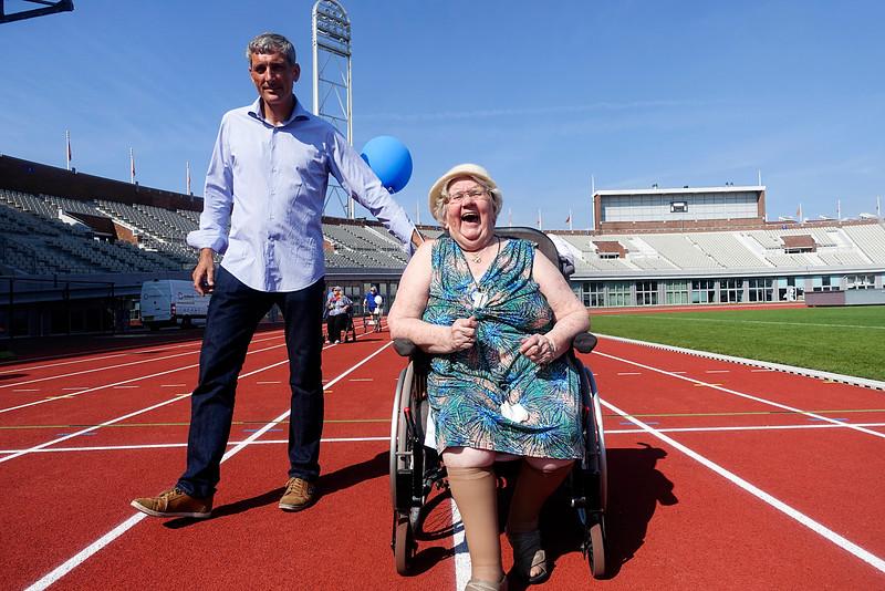 Nederland, Amsterdam, Olympisch Stadion, 7 september 2016, landelijke Rollatorloop 2016, foto: Katrien Mulder