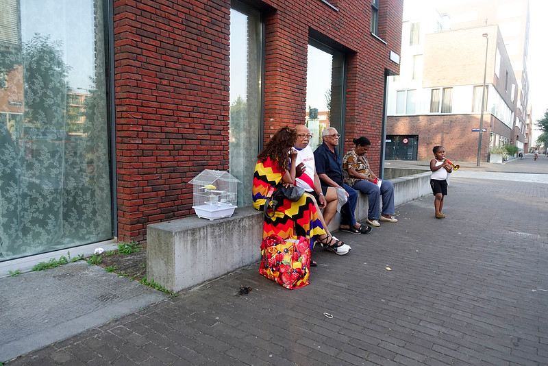 Nederland, Amsterdam, IJburg, extreem mooi weer; blok 17, 13 september 2016, foto: Katrien mulder