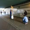 Nederland, Amsterdam, Amsterdam Oost, 1 oktober 2016, fotoshoot van bruidspaar,  foto: Katrien Mulder
