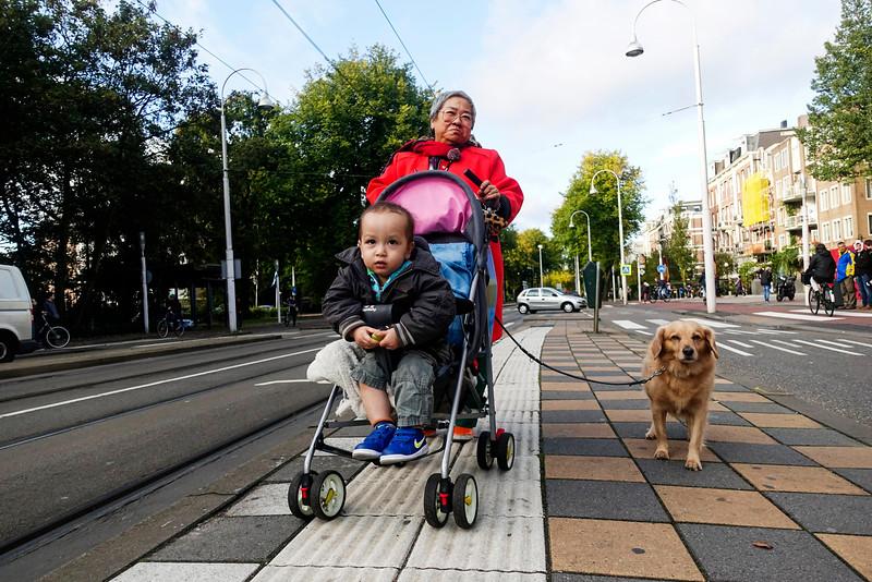 Nederland, Amsterdam, Amsterdam Oost, 19 oktober 2016, tramhalte Linnaeusstraat, foto: Katrien Mulder