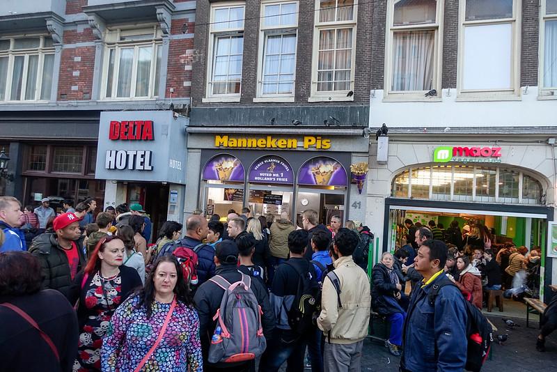 Nederland, Amsterdam, Damrak,31 oktober 2016, foto: Katrien Mulder