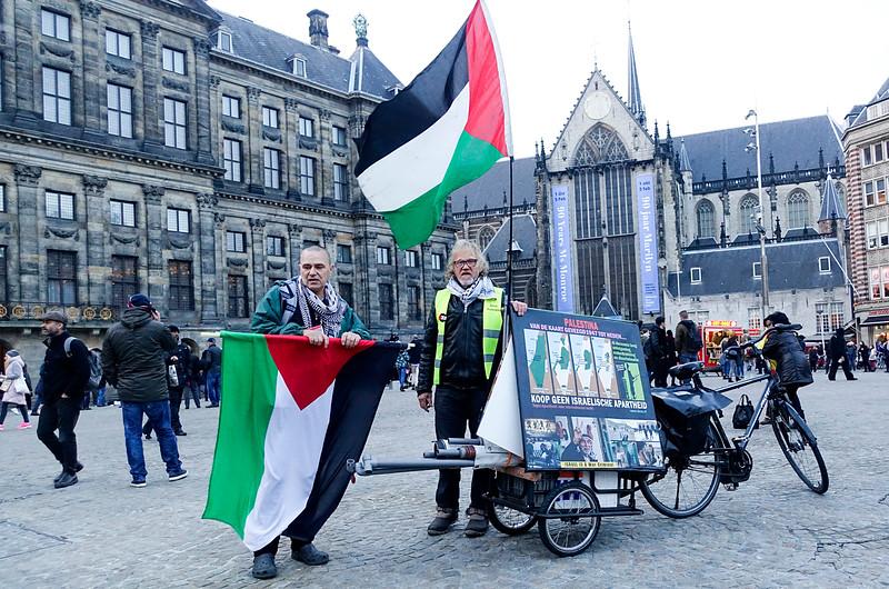Nederland, Amsterdam, 4 november 2016, protesteren op de Dam; foto: Katrien Mulder