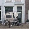 Nederland, Amsterdam, 30 november 2016, Nieuwe Kerkstraat, geveldecoratie van de zijkant van een caravan, foto: Katrien Mulder