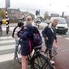 Nederland, Amsterdam, zebrapad  Cruquiuskade, 30 november 2016, foto: Katrien Mulder