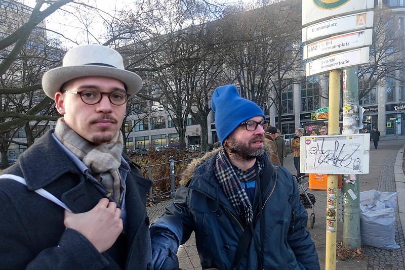 Duitsland, Berlijn. Marten und Luka, 2 december 2016, foto: Katrien Mulder