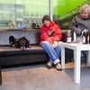 Duitsland, Berlijn, Wedding,  drinkend stel met hond, 7 december 2016, foto: Katrien Mulder