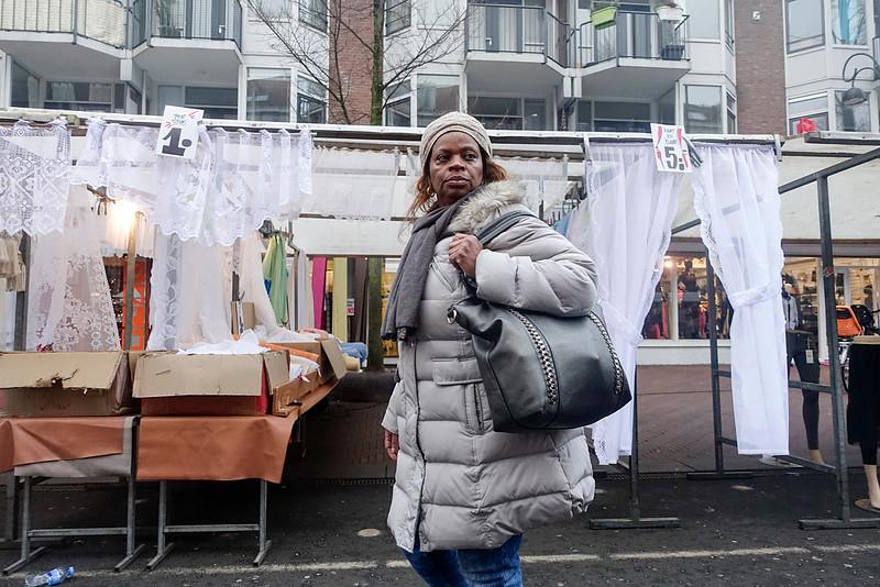 Nederland, Amsterdam, dapprmarkt, 29 december 2016, foto: Katrien Mulder