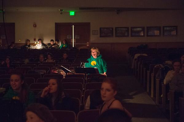 JOED VIERA/STAFF PHOTOGRAPHER- Middleport, NY- Carol Blumrick directs RoyHart High School's production of  Peter Pan