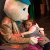 JOED VIERA/STAFF PHOTOGRAPHER- Lockport, NY-Trinity Garay 5 hugs the Easter Bunny at the Palace Theatre.