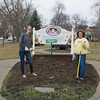 JOED VIERA/STAFF PHOTOGRAPHER- Lockport, NY-Jessica  and  Sharlene Bower work on a flowerbed at Ida Frtiz Park.