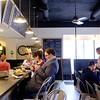 JOED VIERA/STAFF PHOTOGRAPHER- Lockport, NY-Customers fill Scripts Cafe's new location.