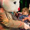 JOED VIERA/STAFF PHOTOGRAPHER- Lockport, NY-Alizandra Garay 3 meets the Easter Bunny at the Palace Theatre.