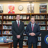 JOED VIERA/STAFF PHOTOGRAPHER- Wilson, NY-Rep. Chris Collins speaks before presenting Wilson High School Senior Gabriel Curcione with a silver level Congressional Award by