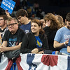 JOED VIERA/STAFF PHOTOGRAPHER- Amherst, NY-A crowd of supporters attend a rally for Democratic candidate Bernie Sanders inside of Alumni Arena at UB's North Campus.