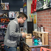 JOED VIERA/STAFF PHOTOGRAPHER- Lockport, NY-Jason Mussachio prepares a bubble tea at Pulp 716.