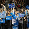 JOED VIERA/STAFF PHOTOGRAPHER- Amherst, NY-A crowd of enthusiastic supporters cheer for Democratic candidate Bernie Sanders  during a rally in Alumni Arena at UB's North Campus.