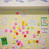 JOED VIERA/STAFF PHOTOGRAPHER-Lockport, NY-A wall of post it notes with acts of kindness written in them at Lockport High School