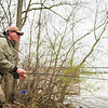 """JOED VIERA/STAFF PHOTOGRAPHER- Burt, NY-George Brojack fishes for the comradery and says """"the fish are just a plus"""" at Fisherman's Park during his trip from Scranton, PA."""