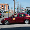 JOED VIERA/STAFF PHOTOGRAPHER- Lockport, NY-A taxi turns onto Walnut Street.