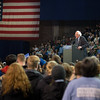 JOED VIERA/STAFF PHOTOGRAPHER- Amherst, NY-Democratic candidate Bernie Sanders  speaks at a rally in Alumni Arena at UB's North Campus.