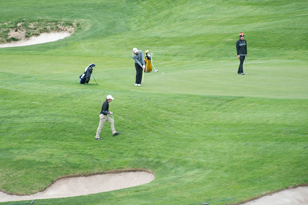 JOED VIERA/STAFF PHOTOGRAPHER-Lockport, NY-A group of golfers play a round at Lockport Town and Country Club.