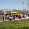 JOED VIERA/STAFF PHOTOGRAPHER- Lockport, NY-George Southard students participate in BlueCross BlueShield of Western New York's National Walk@Lunch Day.