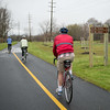 JOED VIERA/STAFF PHOTOGRAPHER- Lockport, NY-Cyclists ride along Lockport's recently completed section of the Erie Canalway Trail.