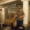 JOED VIERA/STAFF PHOTOGRAPHER- Wilson, NY-Matt Redpath explains how he brewed a Barrel-Aged Belgian Rye at Woodcock Brothers Brewery.