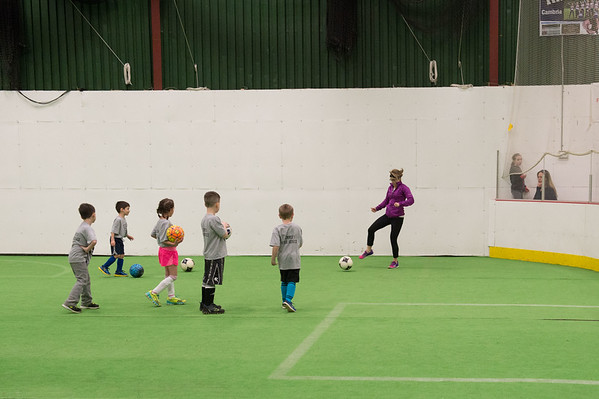 JOED VIERA/STAFF PHOTOGRAPHER- Lockport, NY-Kids participate in the Kenan Center's indoor soccer program.