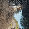 JOED VIERA/STAFF PHOTOGRAPHER- Lockport, NY-A group of Veterans walk from Lockport to Rochester under the Upside Down Bridge.