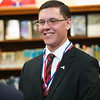 JOED VIERA/STAFF PHOTOGRAPHER- Wilson, NY-Wilson High School Senior Gabriel Curcione after being presented with a silver level Congressional Award by Rep. Chris Collins Presents.