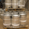 JOED VIERA/STAFF PHOTOGRAPHER- Wilson, NY-Kegs of beer ready to be distrubuted at Woodcock Brothers Brewery.