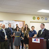 JOED VIERA/STAFF PHOTOGRAPHER- Lockport, NY-President & CEO Veterans One-stop Center Roger L. Woodworth speaks before a ribbon cutting ceremony for the new Veterans One-stop Center on Proffesional Parkway.