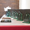 JOED VIERA/STAFF PHOTOGRAPHER- Lockport, NY-Awards rest on a table during the Salvation Army's Open House.