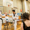 JOED VIERA/STAFF PHOTOGRAPH-Master Chong's Tae Kwon Do holds a demonstration for visitors of North Park Reading Night.
