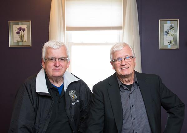 JOED VIERA/STAFF PHOTOGRAPHER-Olcott, NY-Pastor Steve Antin and Pastor Wayne Dent.
