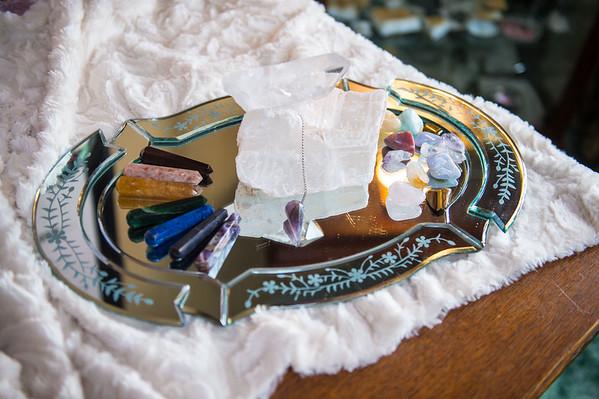 JOED VIERA/STAFF PHOTOGRAPHER- Lockport, NY-Kathy Qualiana crystals in her home.