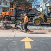 JOED VIERA/STAFF PHOTOGRAPHER- Lockport, NY-Crews repair a water main break on East Avenue at McCollum Street.