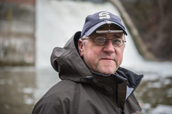 JOED VIERA/STAFF PHOTOGRAPHER- Burt, NY-Paul Povanda hopes to catch some Steelhead at Fisherman's Park during his trip from Port Chester NY.