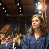 JOED VIERA/STAFF PHOTOGRAPHER- Lockport, NY-Lockport High School student Megan Bruning waits to be inducted into the Honors Society.