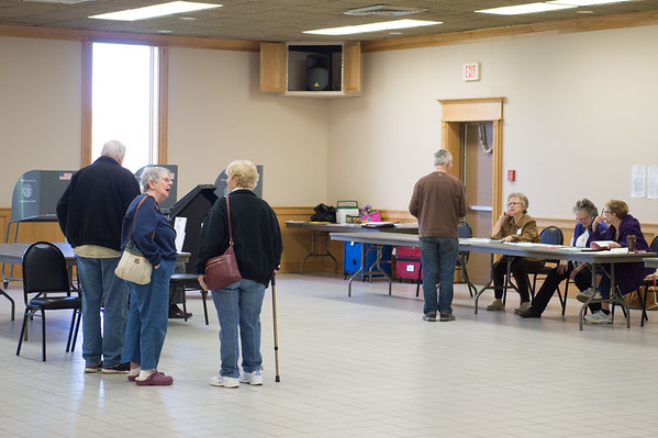 JOED VIERA/STAFF PHOTOGRAPHER- Lockport, NY-Citizens vote in the presidential primary at South Lockport Fire Company.